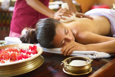 Ayurvedic Herb Bundle Massage